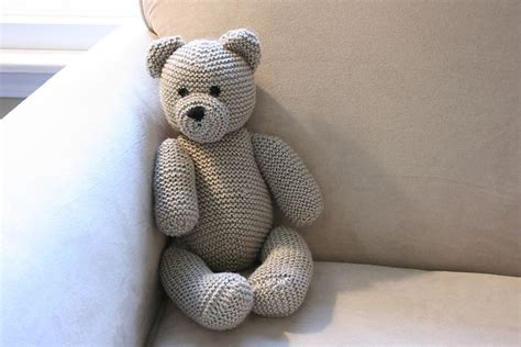 knit teddy diy knitted teddy free knitting pattern tutorial