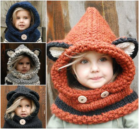 how to knit a cowl wonderful diy knitted hooded cowls
