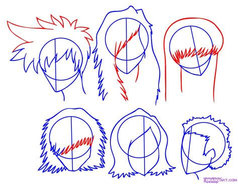 how to draw anime how to draw hair step by step anime hair anime