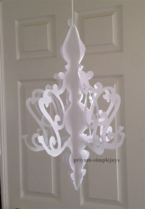 how to make a chandelier out of simplejoys paper chandelier