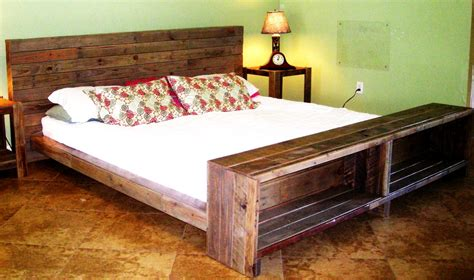 how to build bedroom furniture platform bed reclaimed pallet wood by reanimatedwood on etsy