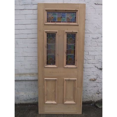 front doors with glass panels sd071 exterior 5 panel door with vibrant stained glass