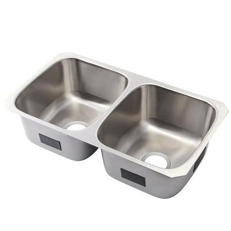 kohler stainless steel undermount kitchen sinks kohler ballad undermount stainless steel 32 in 50 50