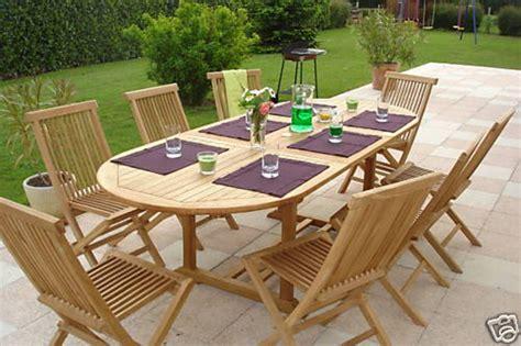 Round Dining Room Table Seats 8 pickering teak garden furniture set hunters of yorkshire