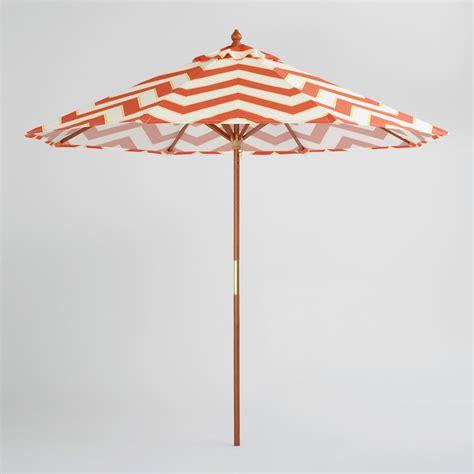 orange patio umbrella 9 orange chevron umbrella world market