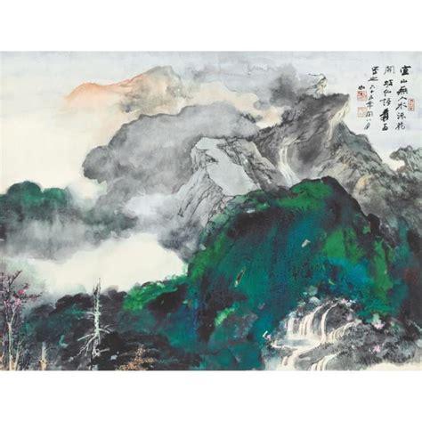 znag painting zhang daqian mountain hk 4 6m hk 18 58m