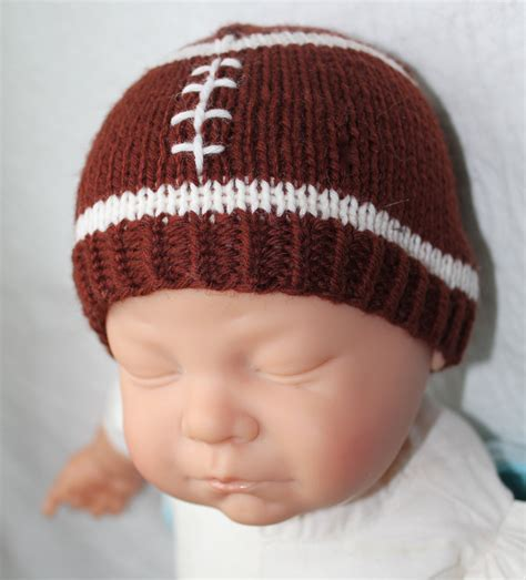 baby hat measurements knit knitting pattern football baby hat size 0 to 3 and 6 to 12