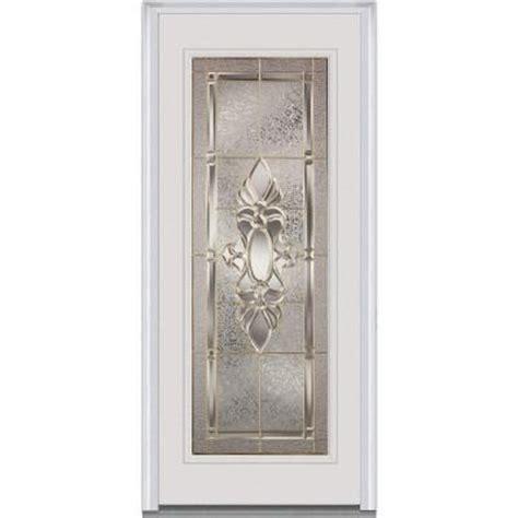 glass front doors home depot milliken millwork white heirloom master decorative glass