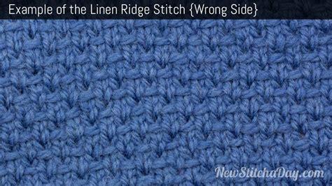 knit linen stitch the linen ridge stitch knitting stitch 229 new