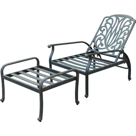 reclining patio chairs with ottoman darlee elisabeth cast aluminum patio reclining club chair