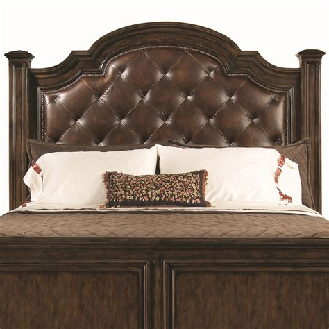 Leather Nailhead Headboard by Leather Head Board Establishes A Magnificent Outlook For