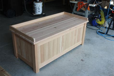 storage bench woodworking plans from this to a storage bench by simonskl