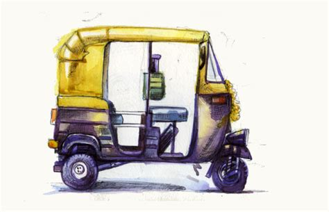 how to draw an auto rickshaw rickshaw challenge