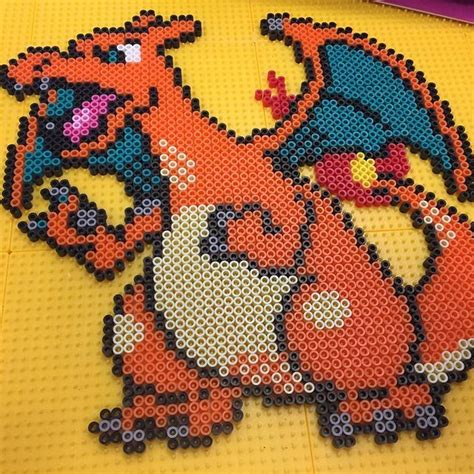 charizard perler 1000 images about perlers gaming on jiggly