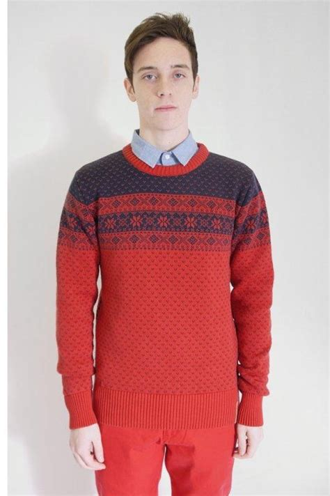 jacquard knit knowledge cotton apparel mens jacquard sweater buy