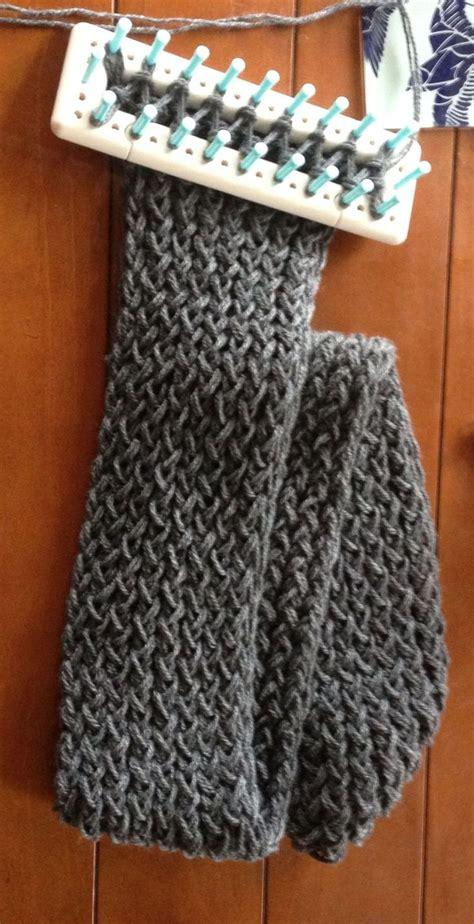 loom knit scarf pattern 1000 ideas about loom scarf on loom knitting