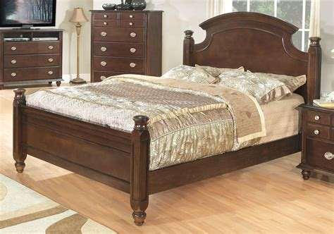 transitional bedroom furniture brown finish transitional 6pc bedroom set w options