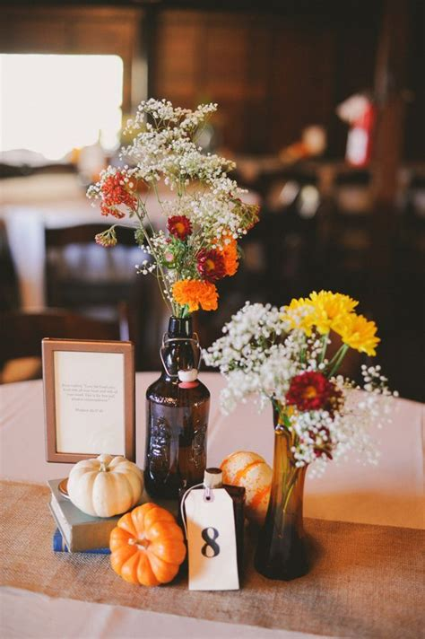 autumn wedding centerpieces for tables 25 best ideas about fall table centerpieces on
