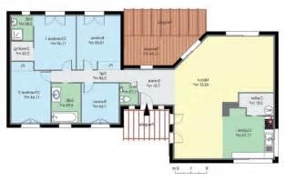 plan maison 4 chambres plain pied gratuit plan de maison contemporaine de plain pied plans de