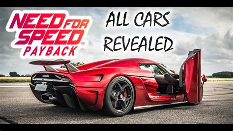 Car Wallpaper 2017 List by Need For Speed Payback Car List All Revealed Cars So