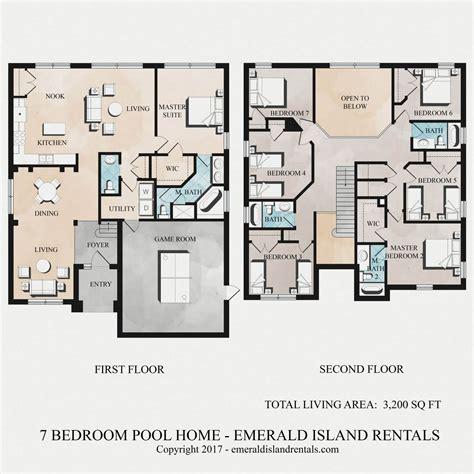 disney floor plan emerald island 7 bed villa floor plan