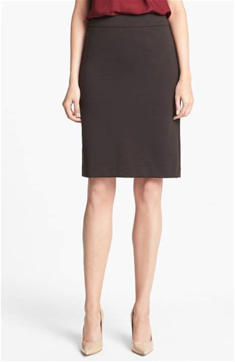 ponte knit pencil skirt jones new york ponte knit pencil skirt in brown