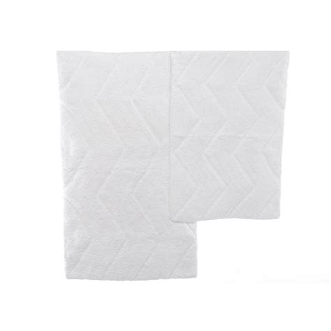 white bath rug deck white chevron bath rug set from beddingstyle