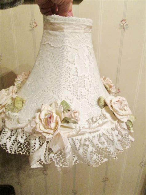 shabby chic lshade lace l shabby chic style and pink roses on