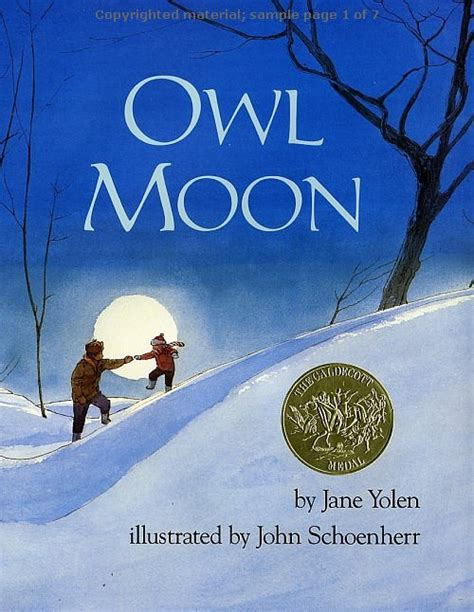 owl picture books owl moon by yolen