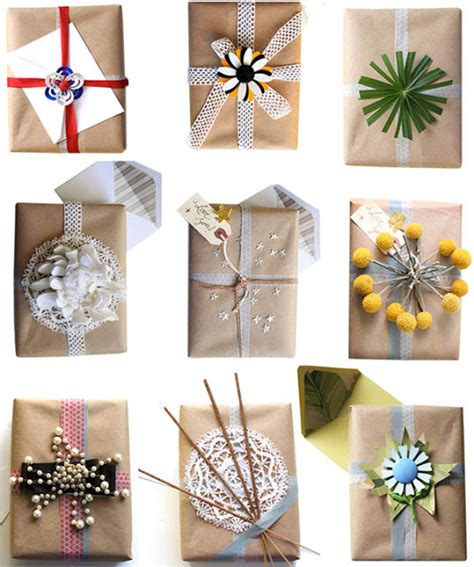 wrapping paper crafts burlap and brown paper gift wrap ideas crafts a la mode