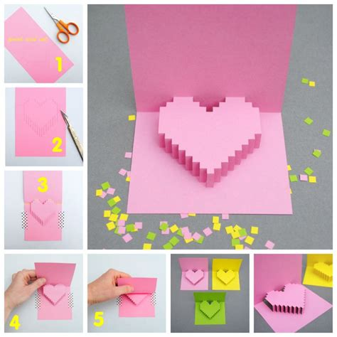 how to make beautiful cards creative ideas diy pixel popup card