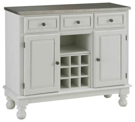 buffet sideboard server home styles premier steel top buffet server in white transitional buffets and sideboards