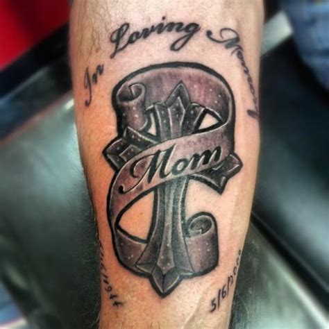 mom cross tattoo by witchhammertattoo on deviantart