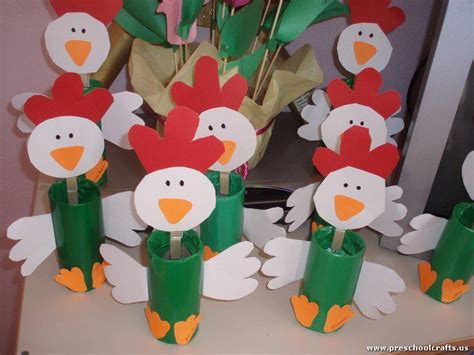 crafts for images chicken craft idea for with toilet rolls preschool