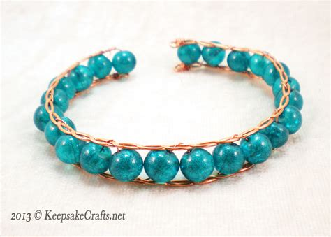 how to make a beaded bracelet with wire woyww hammered twisted wire and bead bracelet