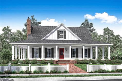 house plans with porches 3 bed country house plan with wraparound porch 51748hz architectural designs house plans
