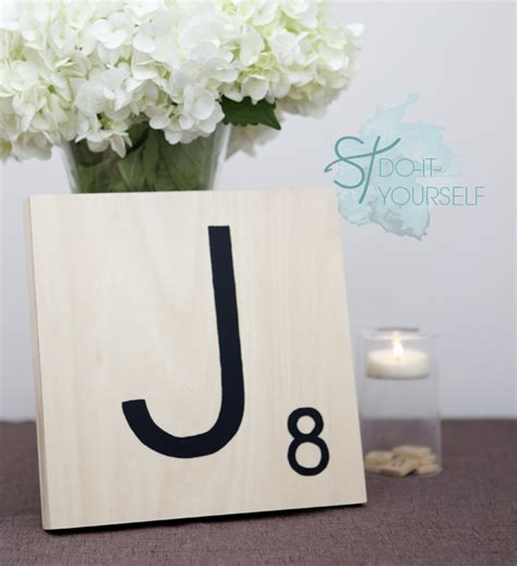 how to make large scrabble tiles how to make scrabble tile table numbers