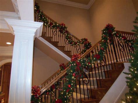stairway garland deck the halls with beautiful garland west