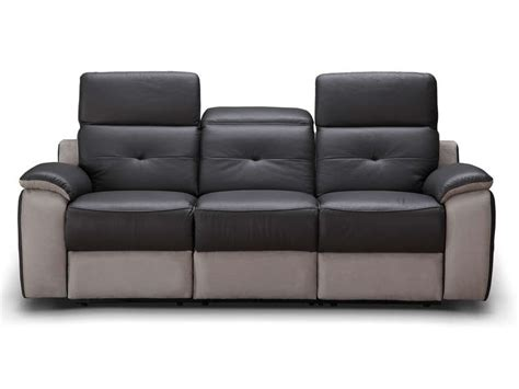 canap 233 fixe relaxation 233 lectrique 3 places en tissu orlando coloris gris vente de canap 233 droit
