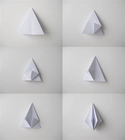 how to make origami 3d shapes paper diamonds design and form