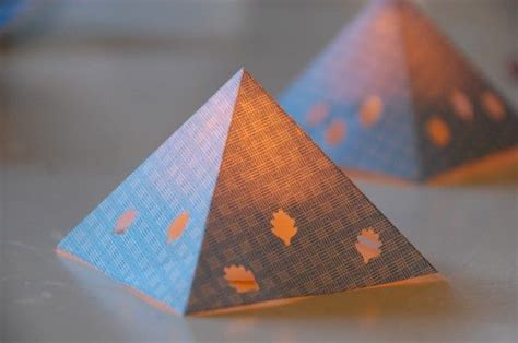 paper pyramid craft diy paper pyramid lanterns crafts paper lanterns and