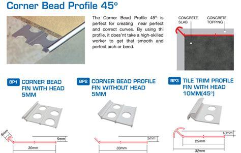 45 corner bead corner bead profile 45 176 manufacturer scanwolf