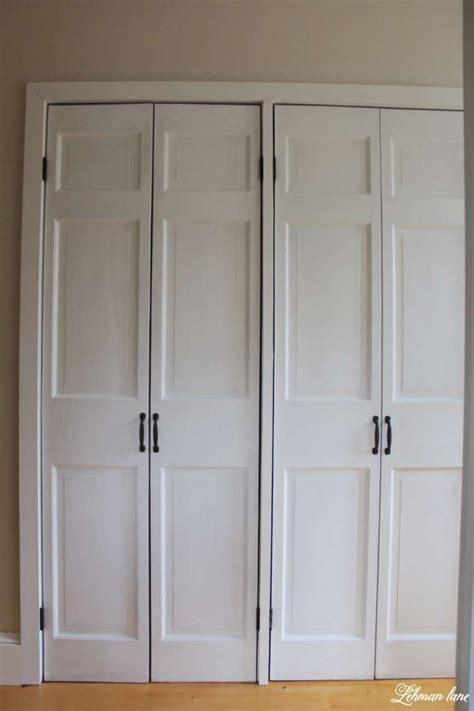 closet door diy diy closet door makeover bi fold to hinged lehman