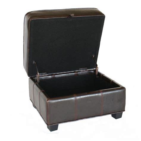 black leather storage ottomans wholesale interiors bicast leather storage ottoman black a