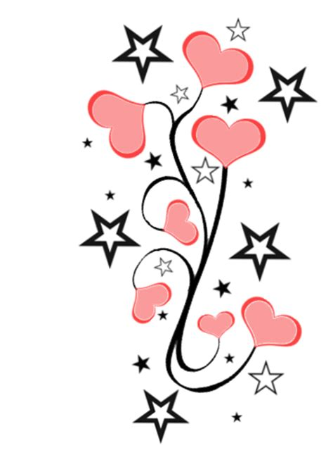 stars and hearts tattoo designs clipart best