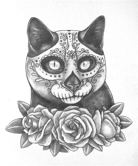 dead cat painting day of the dead cat by alexandrasaschabelik on deviantart