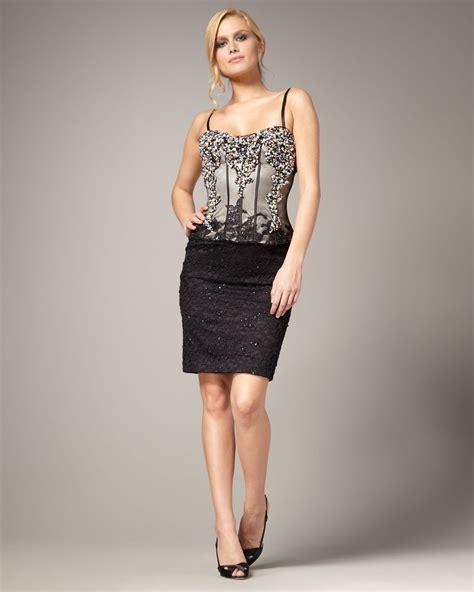 beaded bustier mandalay beaded bustier lace dress in black lyst