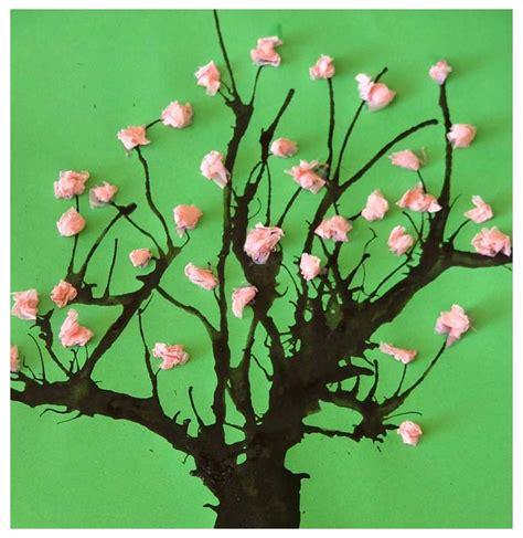 tissue paper tree craft paper crafts for children 187 tissue paper