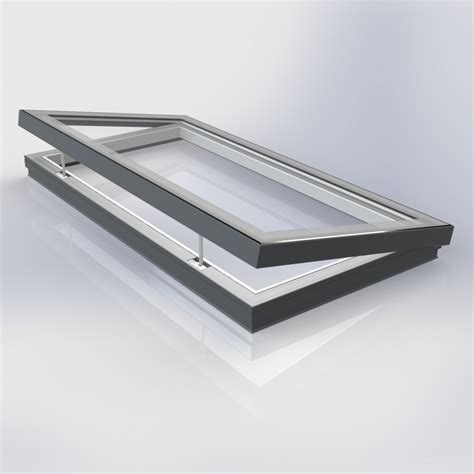 flat glass flat glass vented electric bespoke rooflight