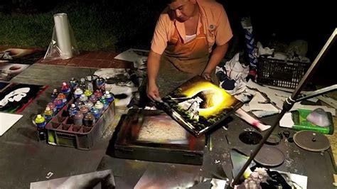 Spray Paint Artist Barcelo Resort Cancun Mexico